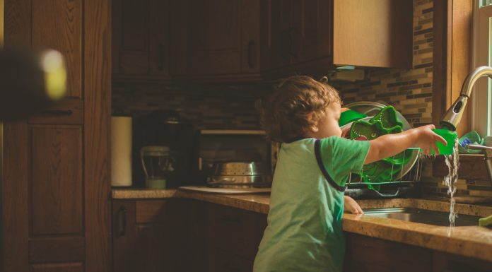 Toddler at Sink | Central Mass Mom