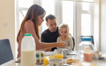 Family Eating Breakfast | Central Mass Mom