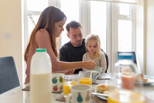 Family Eating Breakfast | Central Mass Mom